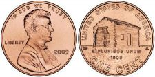 Buy GEM BU 2009-P LOG CABIN LINCOLN CENT~1ST CENT~FREE SHIP