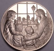 Buy Solid Bronze Proof Franklin Mint Medallion~Christmas Carolers~Incredible~Free Sh