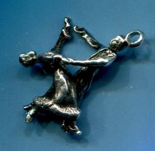Buy Vintage Sterling Charm : 2 Dancers #2 From Judith Jack Bracelet