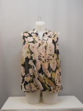Buy INC Women's Top Plus Size 22W Floral Sleeveless Surplice Neck Pullover Sheer