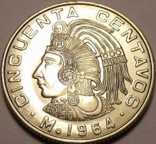 Buy Unc Mexico 1964 50 Centavos~Minted In Mexico City~1st Year Ever~Free Shipping