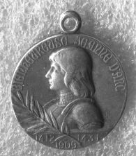 Buy 1909 Silver Medal Joan of Arc Medal Signed Lavrillier - Medaille Jeanne D Arc