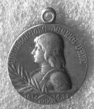 Buy 1909 Silver Medal Joan of Arc Medal Signed Lavrillier - Medaille Jeanne D Arc