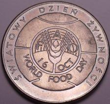 Buy Unc Poland 1982-MW F.A.O. Issue 50 Zlotych~Imperial Eagle~World Food Day~Fr/Ship