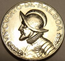 Buy Rare Proof Panama 1967 1/4 Balboa~Only 19,983 Minted~See R Panama Coins~Free Shi