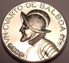 Buy Rare Proof Panama 1968 1/4 Balboa~Only 23,210 Minted~Awesome~Free Shipping