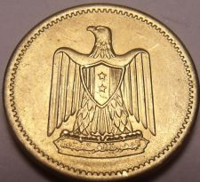 Buy Unc Egypt 1960 Millieme~Eagle With Shield On Breast~See Our Selection~Free Ship