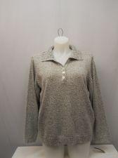 Buy PLUS SIZE 2X Women's Henley Sweater KAREN SCOTT White Marl Long Sleeve Pullover