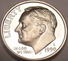 Buy United States 1990-S Proof Roosevelt Dime~We Have Tons Of Proof Coins~Free Ship