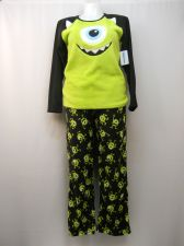 Buy Monster Mike Women's Pajamas 2PC Set Size L Sleep Shirt & Pants Minky Fleece