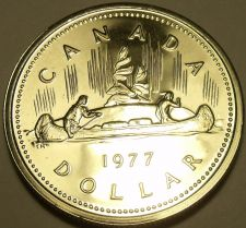 Buy Proof Canada 1977 Canoe Dollar~225,307 Minted~We Have Canadian~Free Shipping
