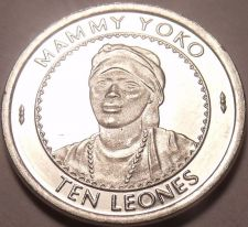 Buy Gem Unc Sierra Leone 1996 10 Leones~Mammy Yoko~Excellent~Free Shipping