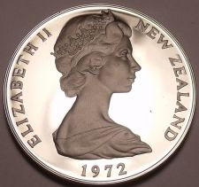 Buy Rare Cameo Proof New Zealand 1972 50 Cents~8,045 Minted~Awesome~Free Shipping