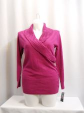 Buy PLUS SIZE 0X Womens Collared Sweater STYLE&CO Solid Pink Side Laced Long Sleeve