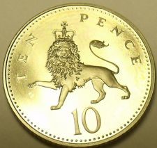 Buy Gem Cameo Proof Great Britain 1997 10 Pence~Excellent Coin~Crowned Lion~Free Shi