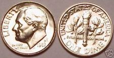 Buy 1987-P BRILLIANT UNCIRCULATED ROOSEVELT DIME~FREE SHIP~