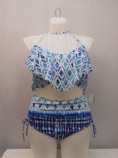 Buy Rampage Women's 2PC Bikini Plus Size 3X Asymmetrical Popover Top High Waist Bott