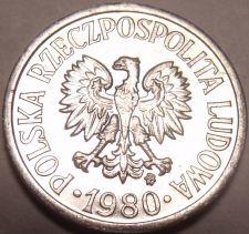 Buy Gem Unc Poland 1980-MW 10 Groszy~Minted In Warsaw~Eagle~Free Shipping