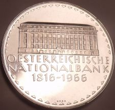 Buy Rare Silver Proof Austria 1966 50 Schillings~National Bank~17,400 Minted~Free Sh