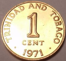 Buy Rare Proof Trinidad & Tobago 1971 Cent~Only 12,000 Ever Made~Fantastic~Free Ship