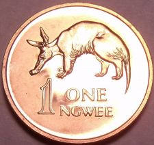 Buy Rare Proof Zambia 1978 Ngwee~Aardvark~Only 24,000 Ever Made~Free Shipping