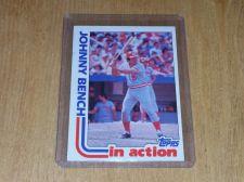Buy VINTAGE JOHNNY BENCH REDS HOF 1982 TOPPS BASEBALL #401 GD-VG