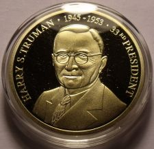 Buy Gem Cameo Proof 24k Gold Plated Harry S. Truman 33rd President Medallion~Free Sh