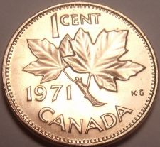 Buy Gem Unc Canada 1971 Maple Leaf Cent~We Have Canadian Coinage~Free Shipping