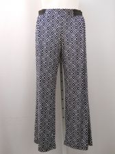 Buy INC Woman's Palazzo Pants Plus Size 1X Geometric Wide Leg Elastic Classic 46X30