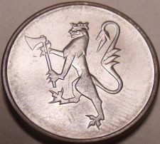 Buy Gem Uncirculated Norway 1982 5 Ore~Last Year Ever Minted~Free Shipping