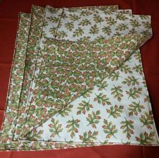 Buy Set of 4 handmade cloth placemats fall Oak leaves motif 100% Cotton