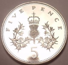 Buy Cameo Proof Great Britain 1984 5 Pence~Only 107,000 Minted~We Have Proofs~Fr/Shi