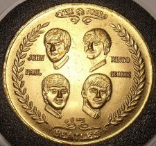 Buy Gem Unc Beatles 1964 Commemorative Coming To America Medallion~Very Nice~FR/Ship
