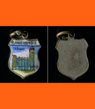 Buy BLANKENBERGHE CASINO Enamel & Silver Travel Shield Souvenir Charm