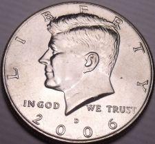 Buy United States Unc 2006-D Kennedy Half Dollar~Free Shipping