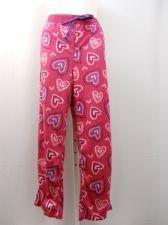 Buy PLUS SIZE 3X Womens Minky Fleece Sleep Pants FADED GLORY Elastic Pink Hearts