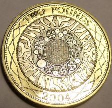 Buy Cameo Proof Great Britain 2004 2 Pounds~Bi-Metal~Technology~Free Shipping