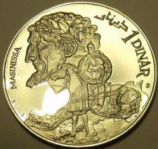 Buy Rare Silver Proof Tunisia 1969-F.M.N.I. Dinar~Head Of Masinissa~14,279 Minted~FS