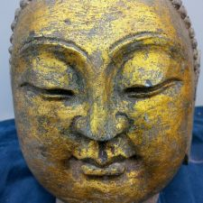 Buy A WELL CARVED LATE 19TH CENTURY CHINESE STONE CARVING OF HEAD OF BUDDHA