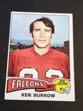 Buy VINTAGE KEN BURROW FALCONS 1975 TOPPS FOOTBALL GD-VG