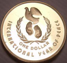 Buy Cameo Proof Australia 1986 Dollar~67,000 Minted~International Year Of Peace~Fr/S