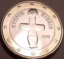 Buy Gem Unc Bi-Metal 2008 Cyprus 1 Euro~Outstanding Bi-Metallic Coin~Free Shipping