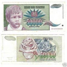 Buy YUGOSLAVIA 1992 50,000 DINARA~FREE SHIP~GREAT PRICE~