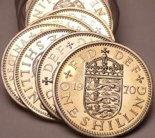 Buy Incredible Proof Roll (20) Great Britain 1970 Shillings~English Shield~Free Ship