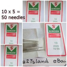 Buy 50 PCS Singer Sewing Machine Needles size 90/14,Regular Point Thread Insert