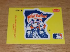 Buy VINTAGE Minnesota Twins 1986 FLLER LIMITED EDITION STICKERS NMNT-MNT