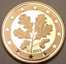 Buy Cameo Proof Germany 2003-G 2 Euro Cents~Karlsruhe Mint~Cameo~Free Shipping~