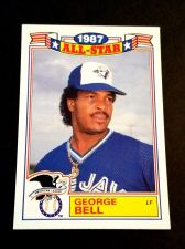 Buy VINTAGE GEORGE BELL BLUE JAYS 1987 TOPPS ALL STAR BASEBALL #6/22 GD-VG