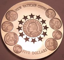 Buy Massive Gem Unc Liberia 2004 5 Dollars~The New Vatican Coins~Free Shipping