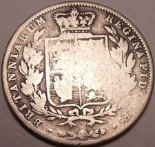 Buy Huge Rare Silver Great Britain 1844 Half Crown~Scarce Date Coin~Free Shipping